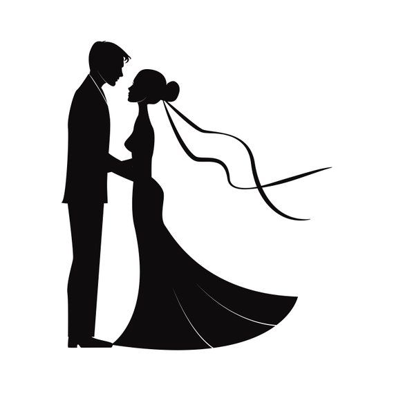 570x570 Wedding Couples In Silhouette Marriage Bride And Groom