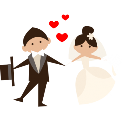 400x400 Collection Of Free Wedding Drawing Couple Download On Ui Ex