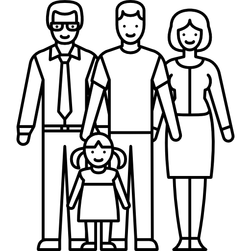 512x512 Married Couple With Two Kids Icons Free Download