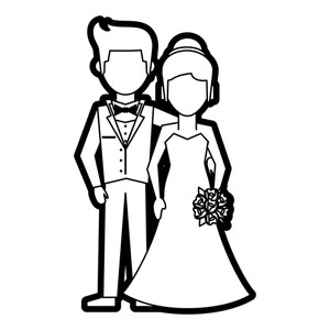 300x300 Married Couple Black And White Royalty Free Illustrations