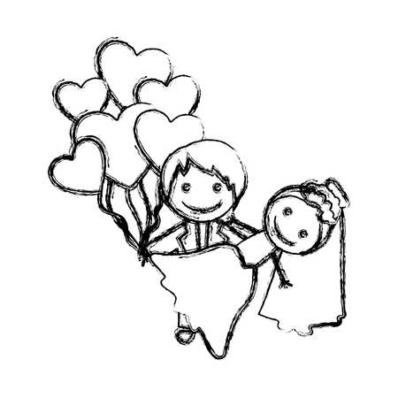 450x450 Drawn Couple Married