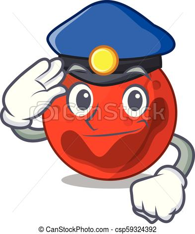 393x470 Police Mars Planet Character Cartoon Vector Illustration