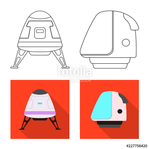 500x500 Vector Design Of Mars And Space Symbol Collection Of Mars