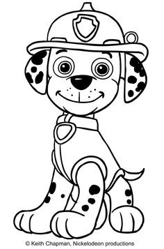 marshall paw patrol drawing | free download on clipartmag
