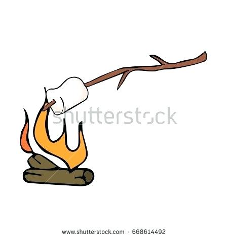 450x470 how to draw a marshmallow collection of marshmallow on fire