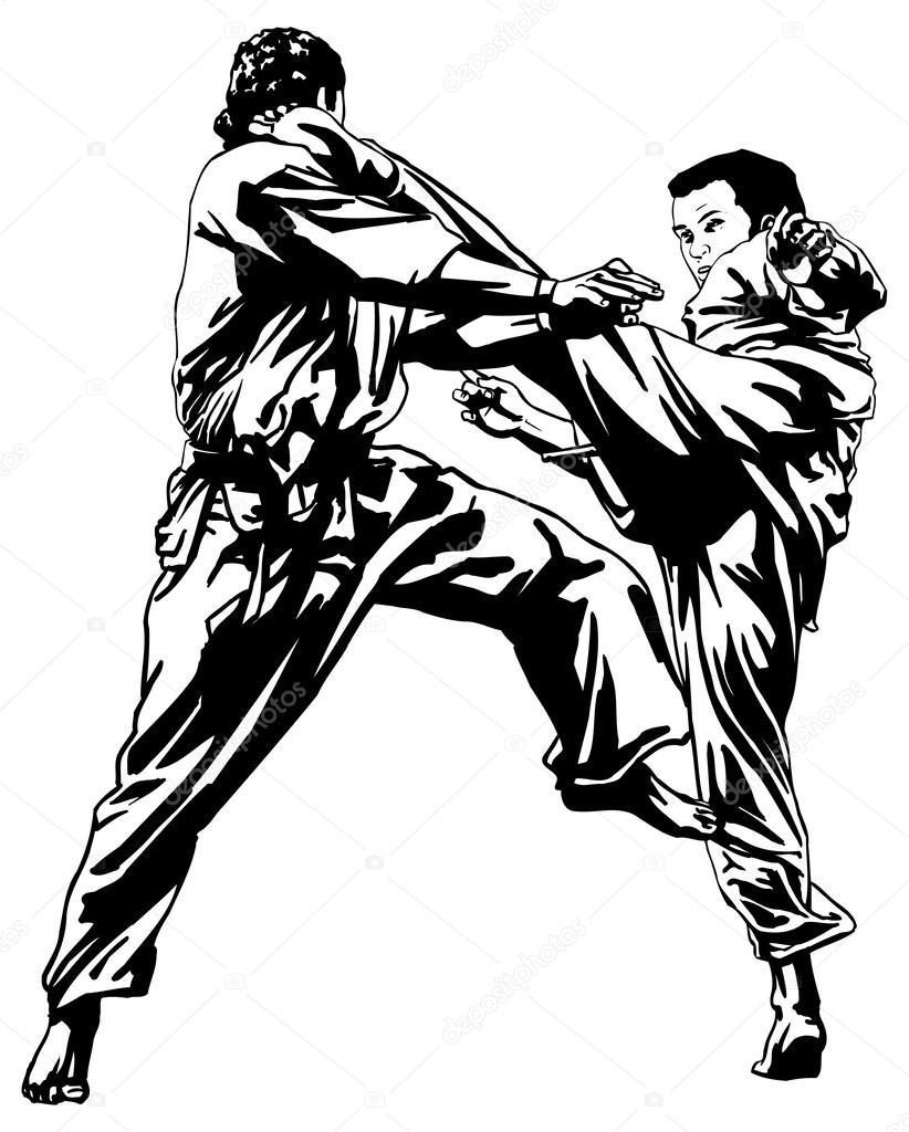 Martial Arts Drawing