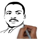 150x150 martin luther king jr coloring pages martin luther drawing