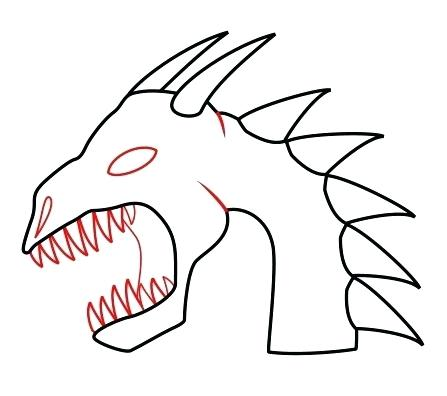 447x396 How To Draw Dragon Head Download