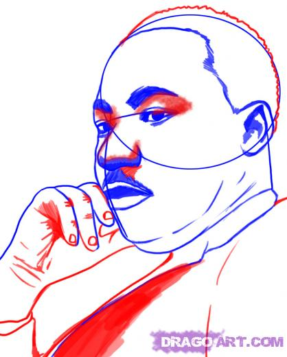 418x520 Learn How To Draw Martin Luther King Jr, Stars, People, Free Step