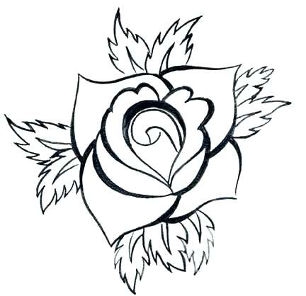 432x418 Rose Drawing Outline How Do You Draw A Simple Rose Rose Drawing