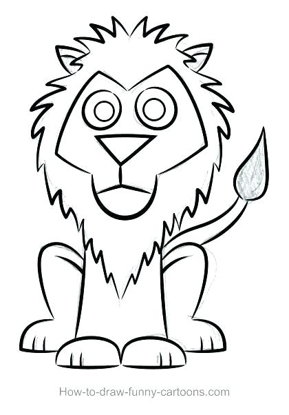 420x602 How To Draw A Lion Face Running