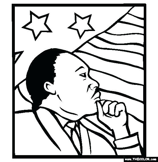 554x565 Preschool Coloring Pages Martin Luther King