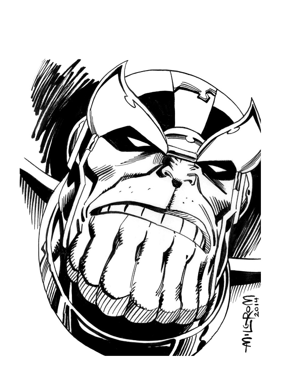 956x1269 Thanos Drawing Simple For Free Download