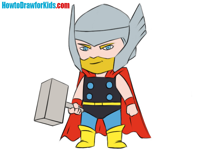 700x500 How To Draw Thor For Kids How To Draw For Kids