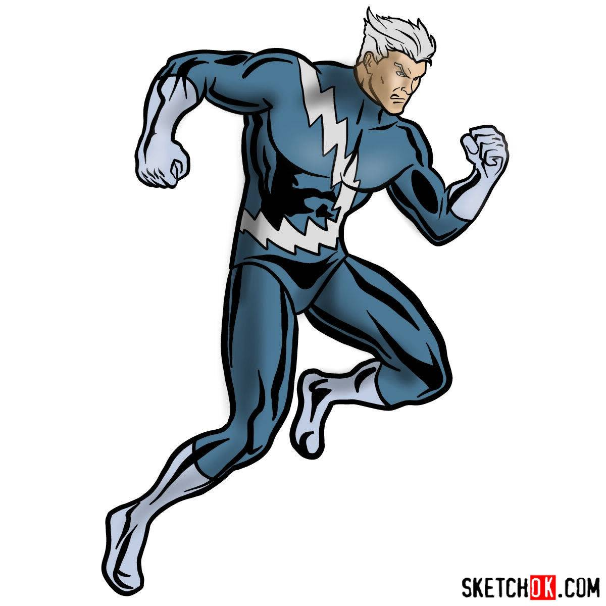 1200x1200 How To Draw Quicksilver From Marvel Comics