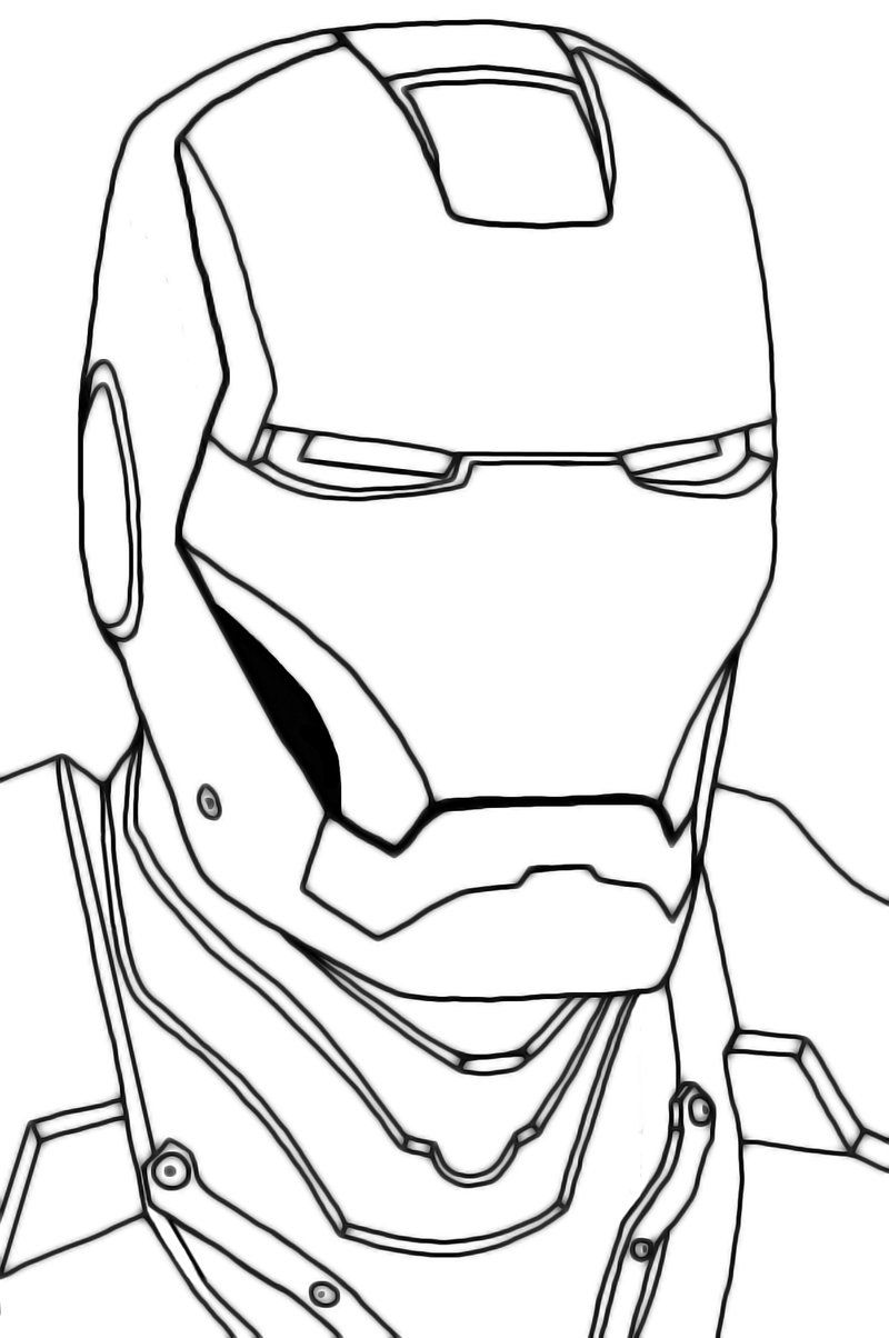 800x1204 Head Iron Man Suit Coloring Pages Drawing Lesson Ideas Iron