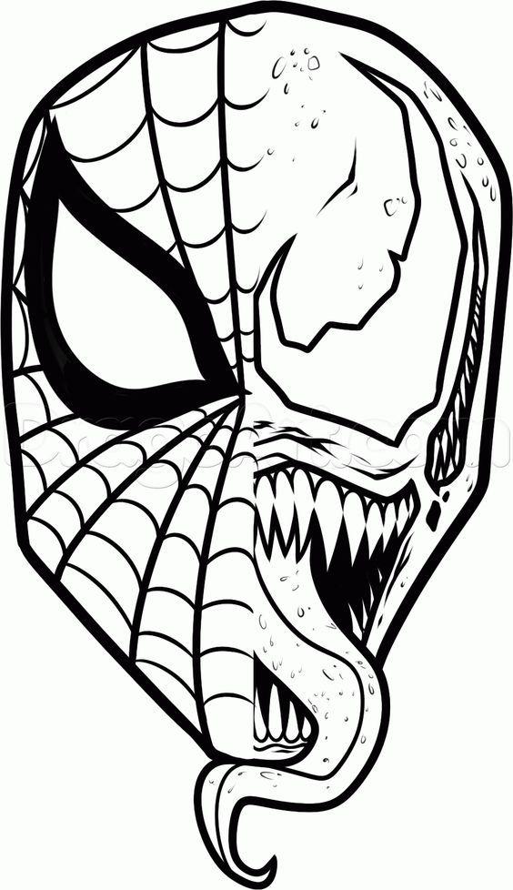 564x978 How To Draw Spiderman And Venom Step Geeks