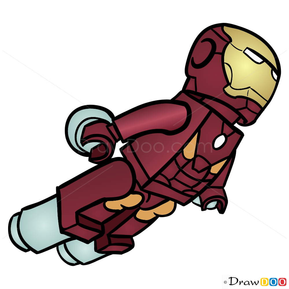 1000x1000 How To Draw Iron Man, Lego Super Heroes