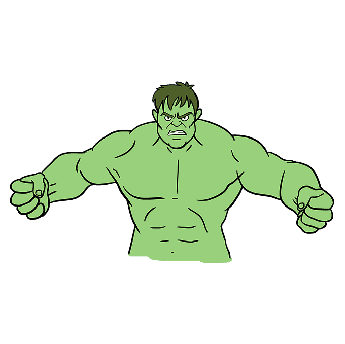680x678 How To Draw The Hulk