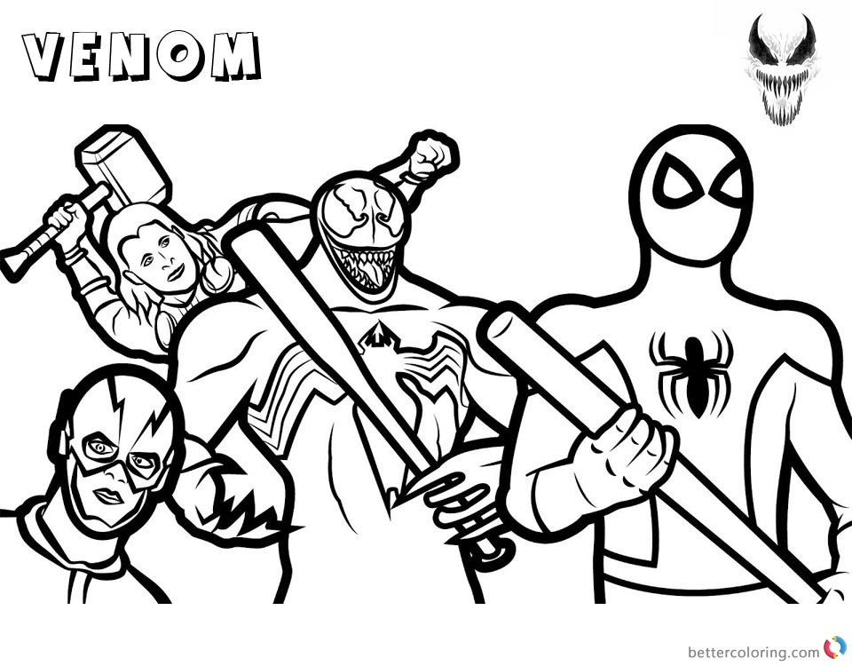 960x750 Venom Coloring Pages Marvel Heroes