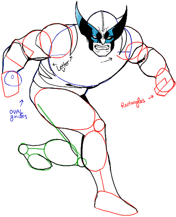 600x741 How To Draw Wolverine From Marvel Comics Step