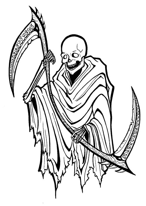 497x700 Marvel Grim Reaper Tattoo Style For Boys Picsmine