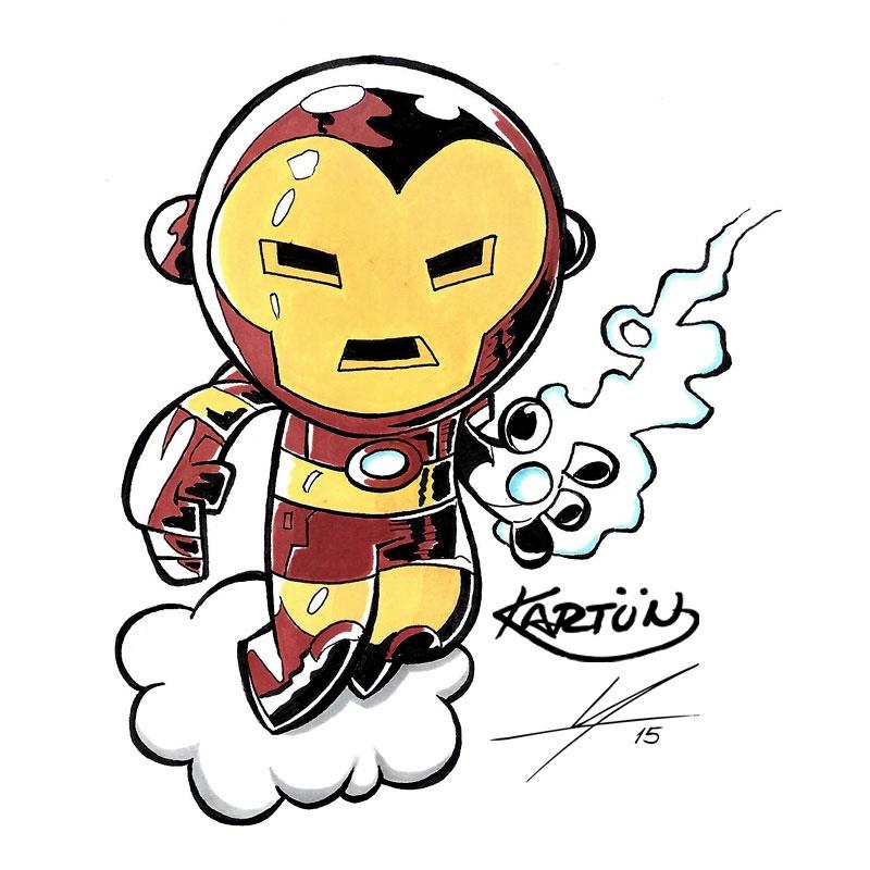 800x800 Inktober Bonus Collab Iron Man Pencils