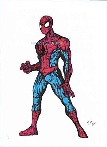 364x500 Spider Man Original Drawing Handmade