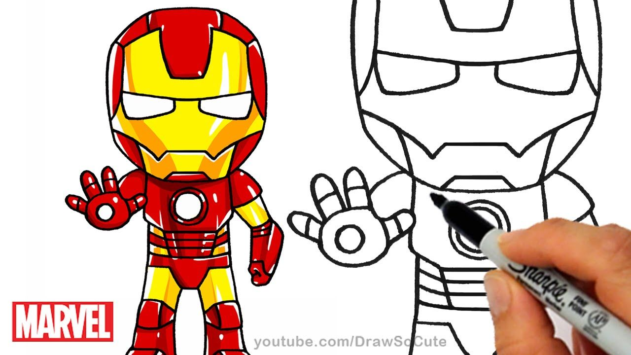 1280x720 How To Draw Iron Man Step