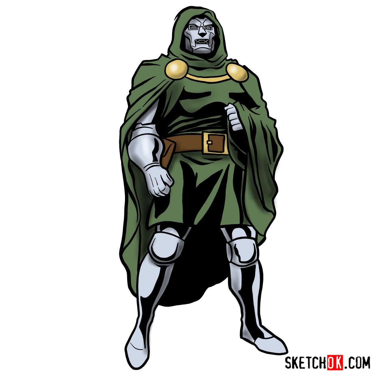 1200x1200 How To Draw Doctor Doom, Marvel's Supervillian