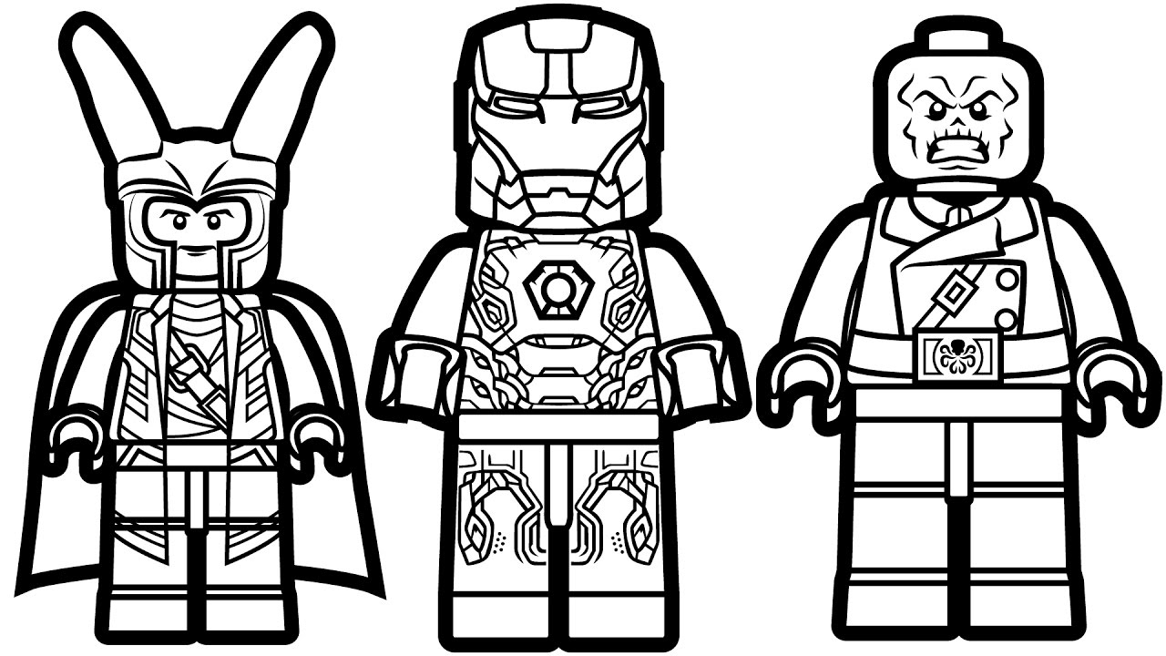 1280x720 Lego Avengers Coloring Pages With Marvel Book Also Ninjago Kids