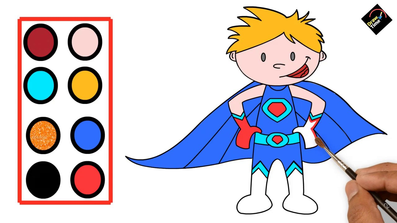1280x720 Singham Marvel Superhero Drawing For Kids Learn Colors And Draw