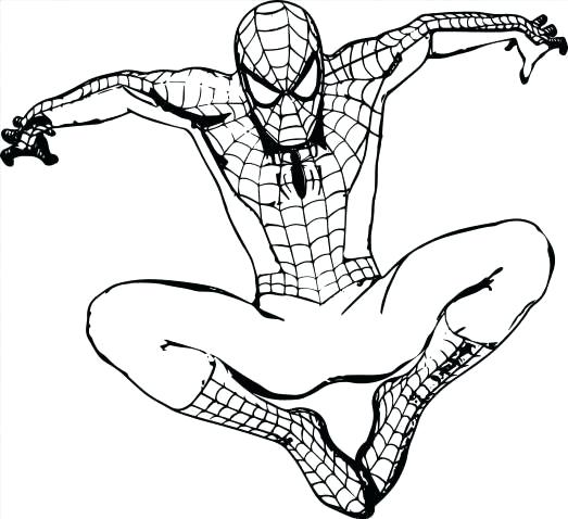 523x478 Spiderman Easy To Draw Cute Superhero Coloring Pages Superheroes