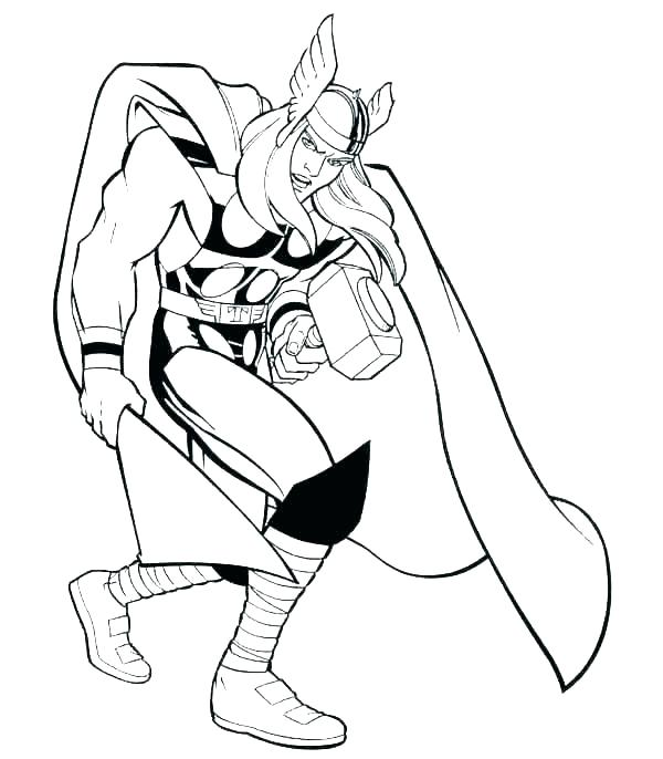 600x686 Superhero Coloring Pages Marvel