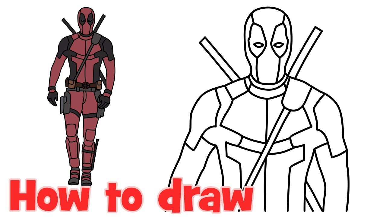 1280x720 Easy Superhero Drawings How To Draw + Color Deadpool Chibi