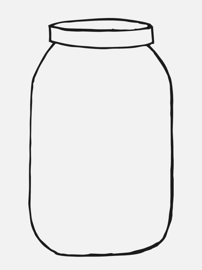 image relating to Mason Jar Printable Template known as Mason Jar Drawing Template Absolutely free down load excellent Mason Jar