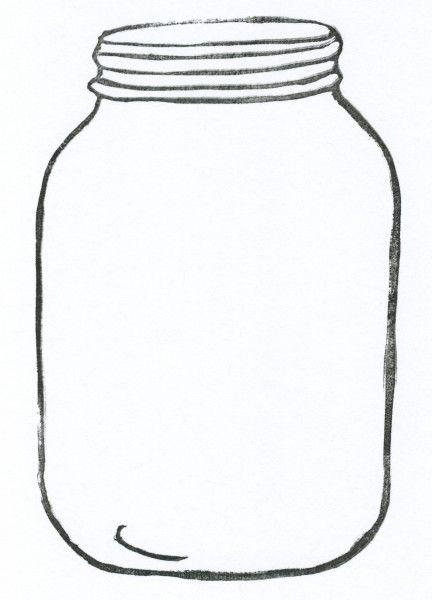 Mason Jar Drawing Template Free Download Best Mason Jar