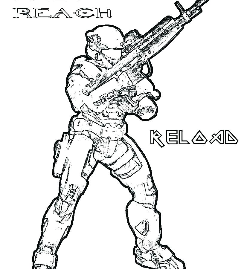 816x900 Halo Coloring Pages Master Chief Fresh Reach Sheets