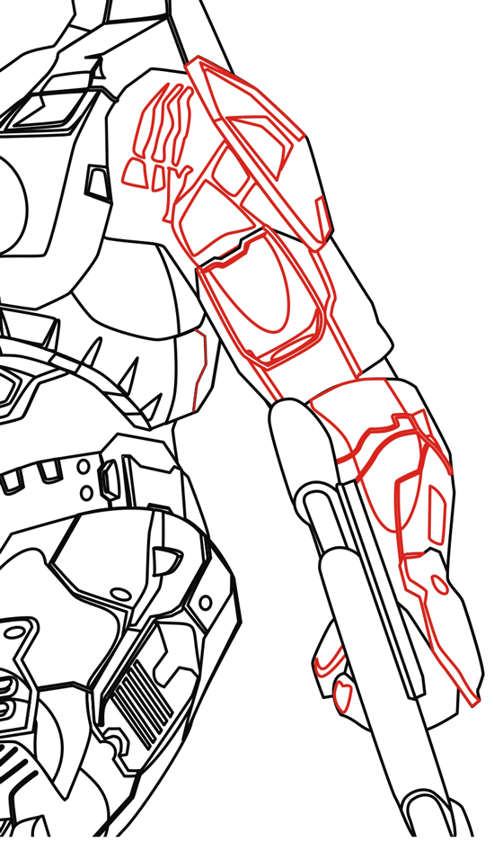 550x936 How To Draw Master Chief From Halo In Step