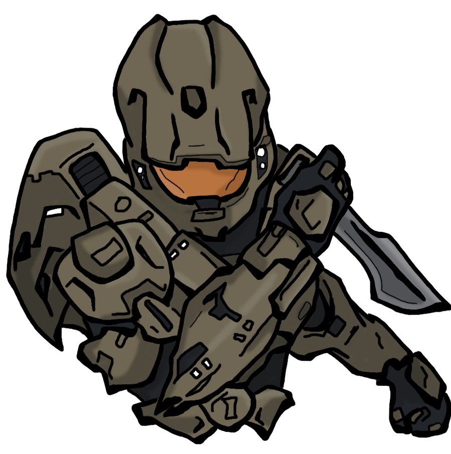 900x906 How To Draw Master Chief Step