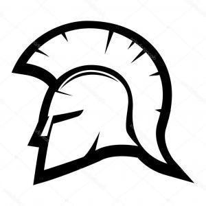 300x300 spartan helmet drawing spartan helmet sign stock vector taronin