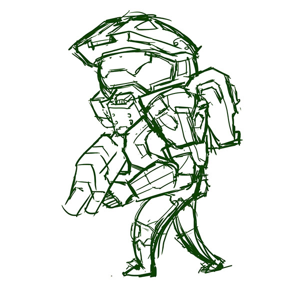 600x600 The Master Chief On Pantone Canvas Gallery