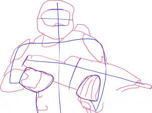302x224 Drawing Printout How To Draw Master Chief