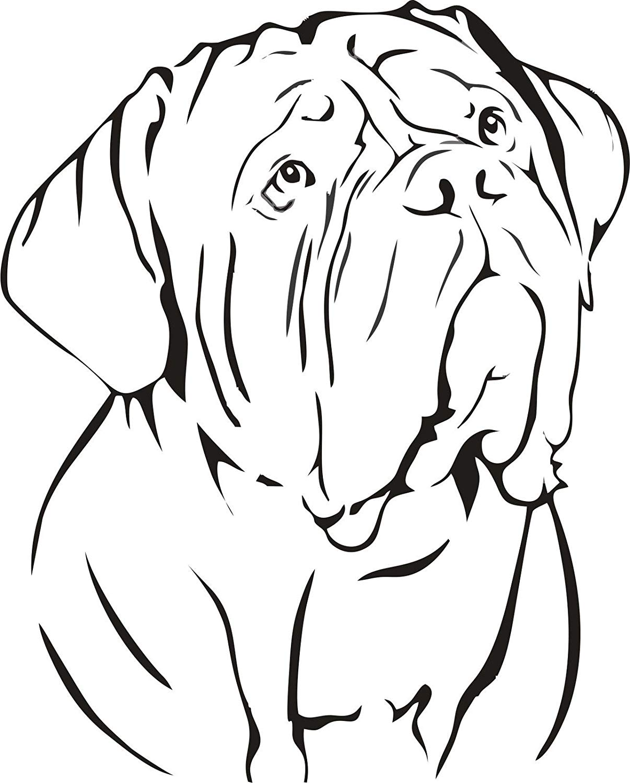 mastiff drawing free on clipartmag