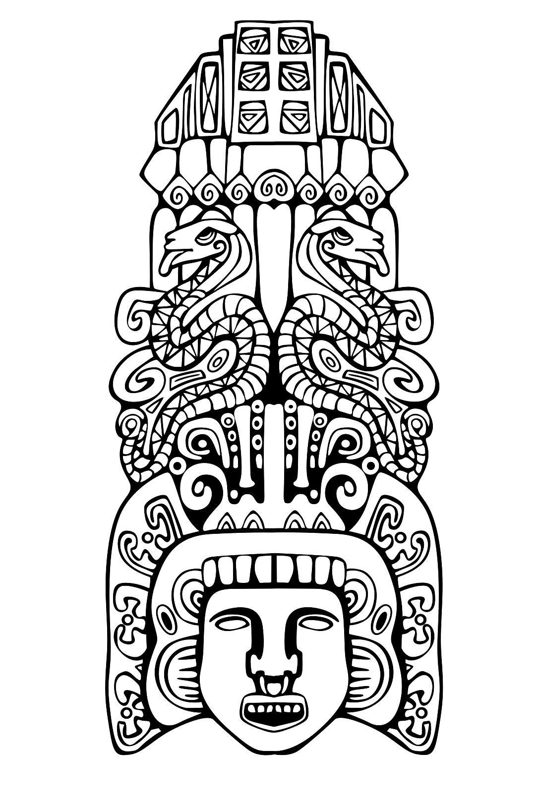 1085x1624 adult coloring pages mayan mask adult coloring pages aztec
