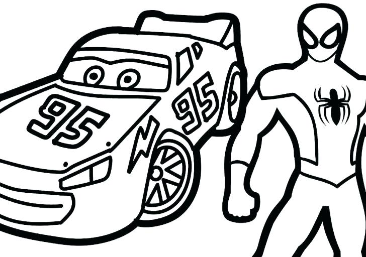 728x512 Free Lightning Mcqueen Coloring Pages Online Color Print Colouring