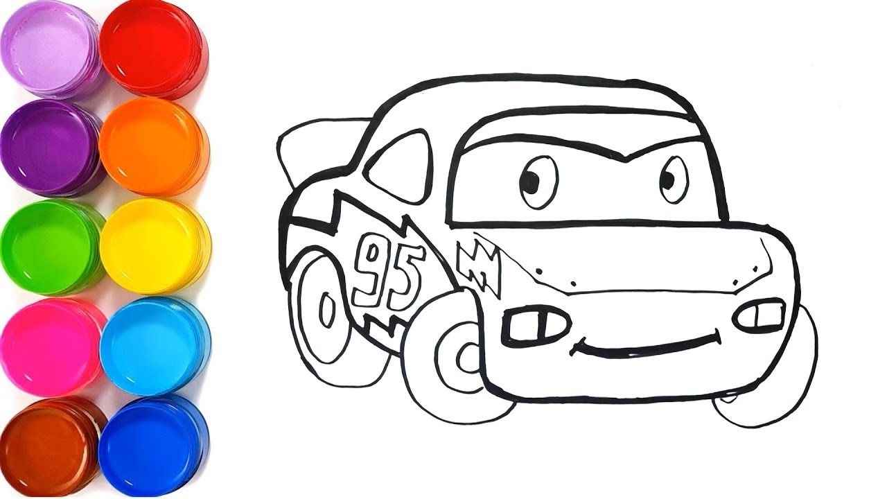 1280x720 Glitter Lightning Mcqueen Fabulous Coloring Pages And Drawing