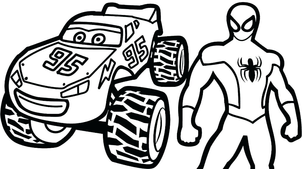 1024x576 Mcqueen Coloring Pages Lightning Mater Coloring Pages Drawing