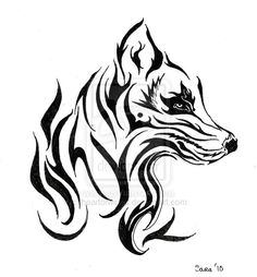 236x254 best tribal wolf images tribal wolf tattoos, tribal drawings