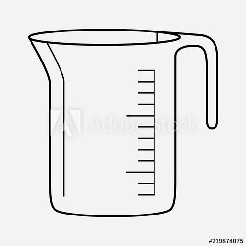 500x500 measuring cup icon line element vector illustration of measuring